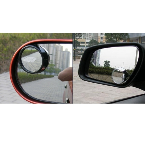 3R11 Car Rear View Mirror Wide Angle Mirror Side Mirror, 360 Degree Rotation Adjustable, Pack of 2