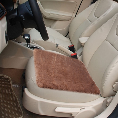 Warm Plush Car Seat Cover Car Cushion Saddle, Size: 48cm x 48cm  (Brown)