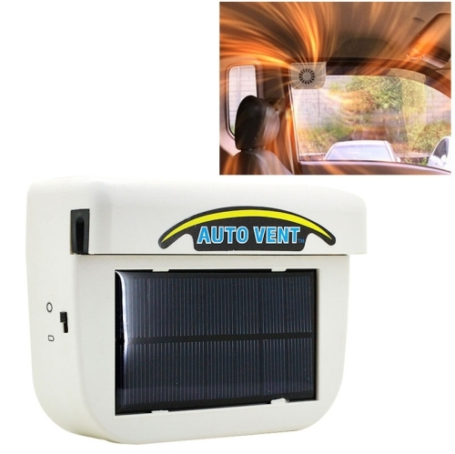 Solar Powered Car Auto Cooling Fan Air Vent Ventilate with Rubber Strip Car  Heat Fan System Keep Your Parked Car Cooler (White)