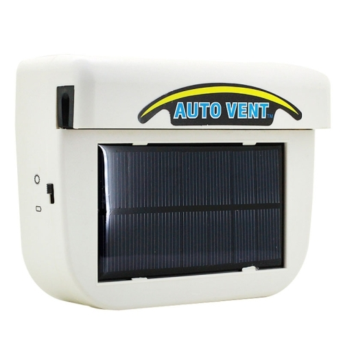 Solar Powered Car Auto Cooling Fan Air Vent Ventilate With