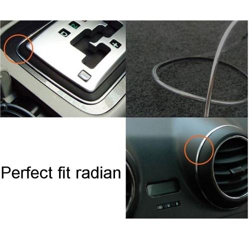 Interior Trim and Exterior Trim Universal 3M Car Decorative Sticker Long Strip (Orange)