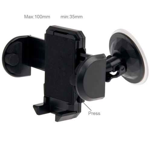 Universal 360 Degree Rotation Suction Cup Car Holder / Desktop Stand for iPhone 5 & 5S & 5C / iPhone 4 & 4S / Other Mobile Phones / MP4 / PDA, Width: 3.5cm - 10cm