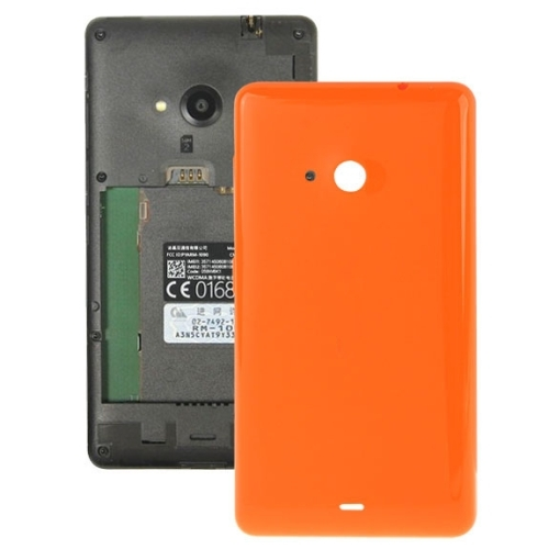 size 40 0bd89 6b43a Solid Color Plastic Battery Replacement Back Cover for Microsoft Lumia 535  (Orange)