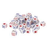 Gaming Dice Set for Leisure Time Playing, Size: 11mm x 11mm x 11mm, Pack of 40 (White)
