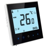 Electric Floor Heating System LCD Display Programmable Room Thermostat (Black)