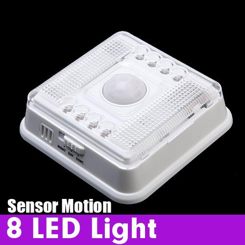 Auto 8 Led Light Pir Sensor Motion Detector Wireless Infrared Indoor