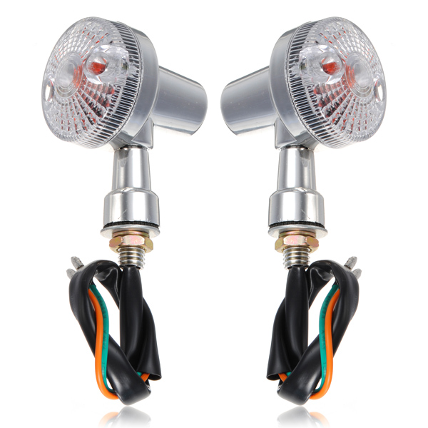 Universal LED Front Rear Motorcycle Turn Light Amber
