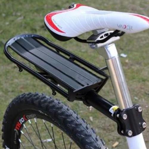 Extendable Bike Rack : Black extendable bicycle seat post beam rear rack alex nld