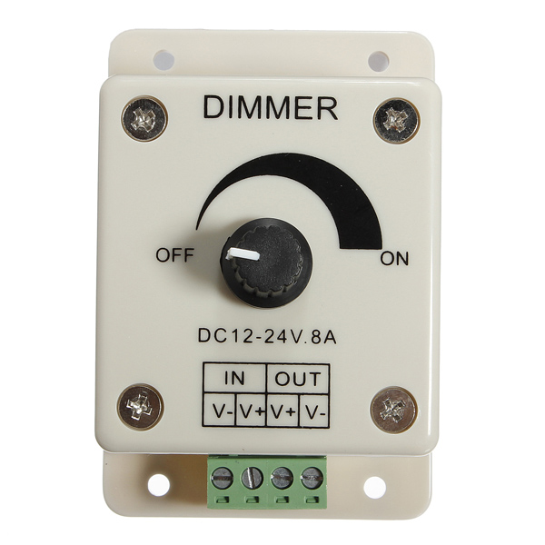 dc 12 24v 8a adjustable dimmer switch control for single. Black Bedroom Furniture Sets. Home Design Ideas