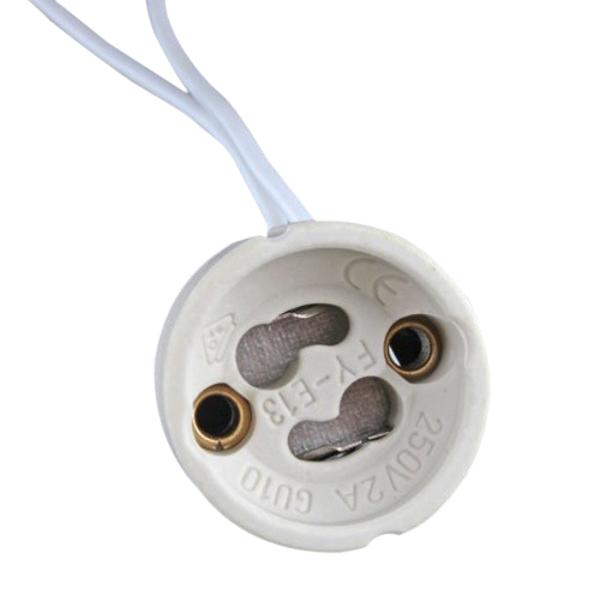 Gu10 Socket Led Bulb Halogen Lamp Holder Base Ceramic Wire