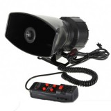 12V Loud Horn Siren 5 Sounds Tone PA System 60W Max 300db