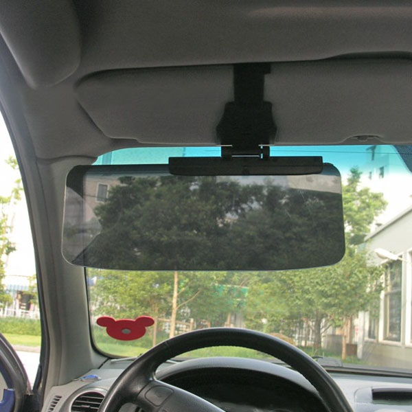 Car Van Shade Sun Visor Extension Glare Mirror Window Sunscreen ... 0439fdaa801