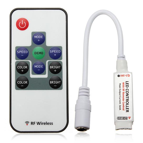 DC5-24V LED RF Remote Controller For RGB 5050/3528 SMD LED Strip