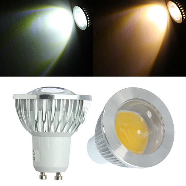 gu10 led bulbs 3w cob ac 85 265v warm white white spot. Black Bedroom Furniture Sets. Home Design Ideas
