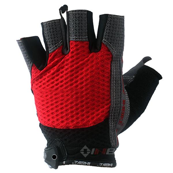 Inbike Cycling Gloves Half Finger Gloves -Male Black Red Blue