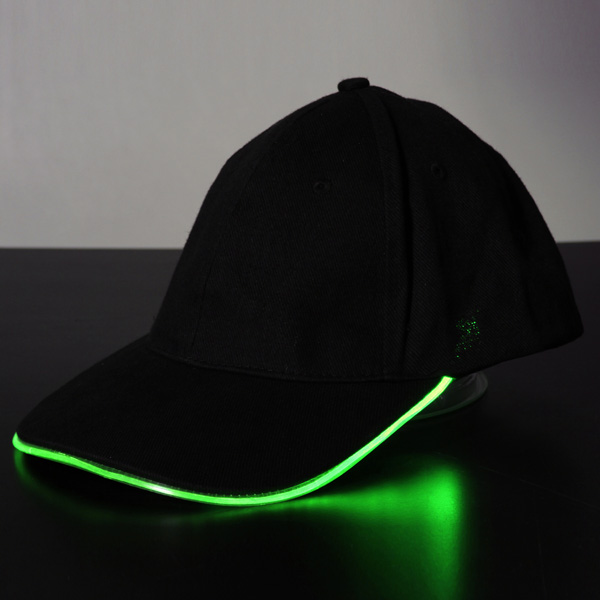 2857ff0021d Led Light Glow Club Party Sports Athletic Black Fabric Travel Hat