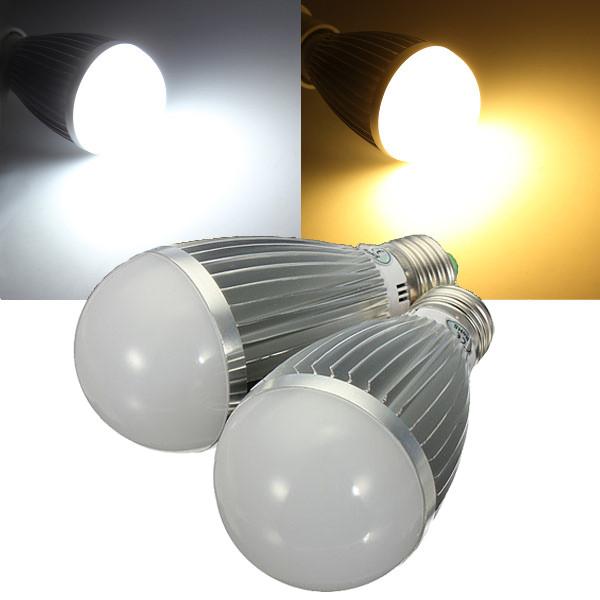 e27 8w warm white white energy saving led globe light bulb. Black Bedroom Furniture Sets. Home Design Ideas
