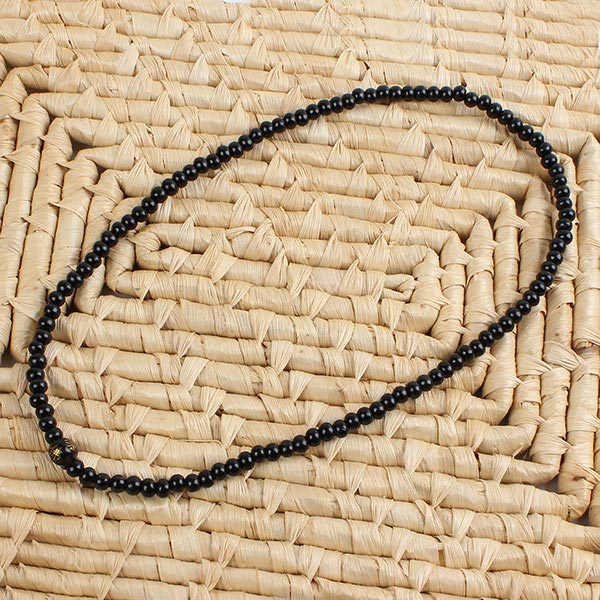 Sandalwood Buddha Buddhist Prayer Bead Black Bead Bracelet Necklace