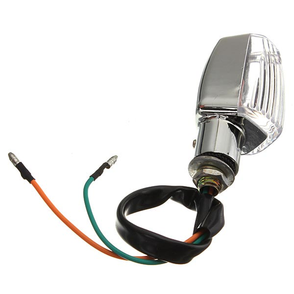 Universal Chrome Motorcycle Turn Indicators Signal Lights Amber Light