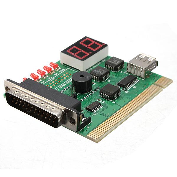 7ac6b7c48029 2 Digit USB PCI LPT Motherboard Diagnostic Analyzer Test Card For Laptop PC  And Desktop