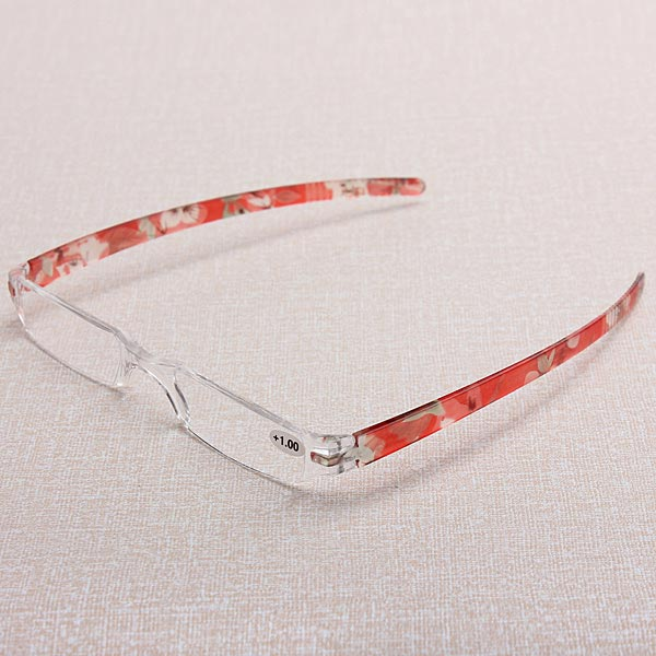 Rimless Reading Glasses With Case Presbyopic Glasses