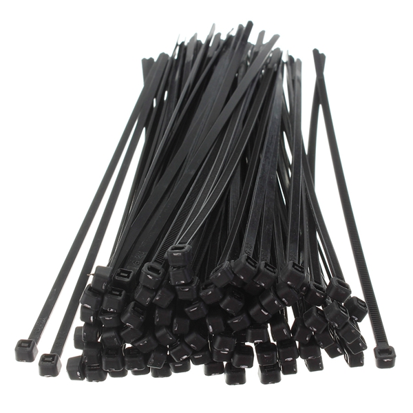 100Pcs 8inch Wire Cable Zip Ties Nylon Wrap 40 LBS Tensile Strap ...
