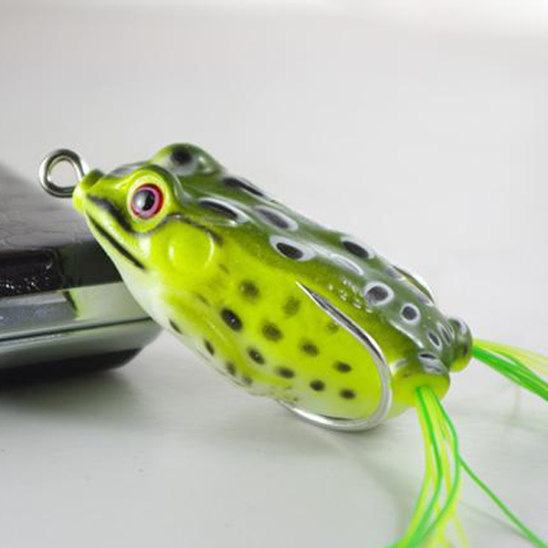 Fishing lure soft frog baits frog hollow body soft bait for Frog bait fishing