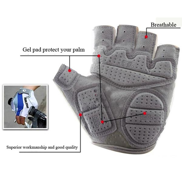 Bike Bicyce Gel Silicone Half Full Finger Fingerless Gloves