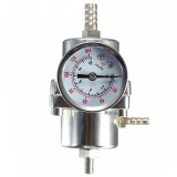 Universal Silver Adjustable Pressure Regulator 0-140PSI Gauge Steel