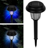 Solar Powered Bug Zapper LED UV Insect Repellent For Pathway Garden