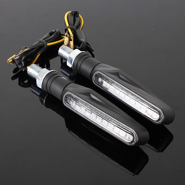 2x 12 LED Motorcycle Bike Turn Signal Indicator Light Universal 12V Metal Casing