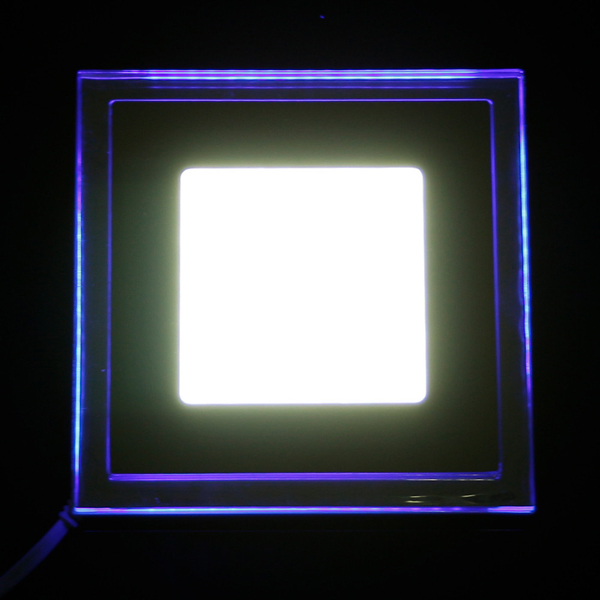 Are Led Ceiling Lights Any Good : W recessed square acrylic led panel ceiling light