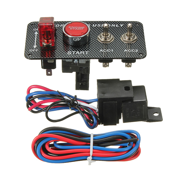 ignition switch panel led toggle engine start push button racing 12v alex nld