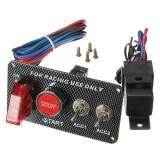 Ignition Switch Panel LED Toggle Engine Start Push Button Racing 12V