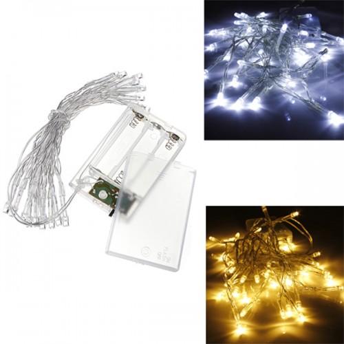 Aa battery mini 20 leds cool warm white christmas string fairy lights