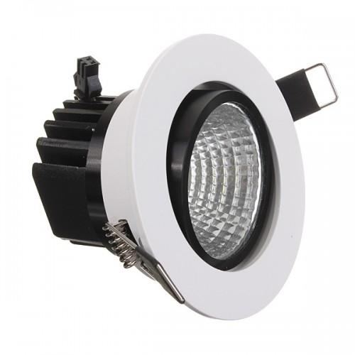 Led Light Fixture Dimmable: 9W Dimmable COB LED Recessed Ceiling Light Fixture Down