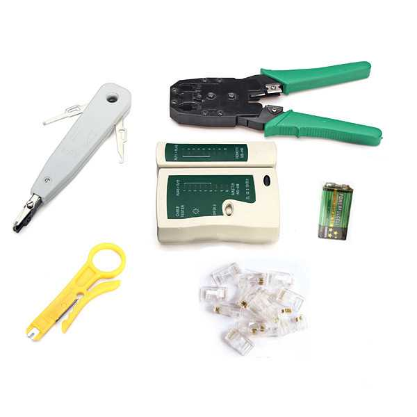 6 in 1 rj45 rj11 cat5 network tool kit cable tester for Canape network testing tool