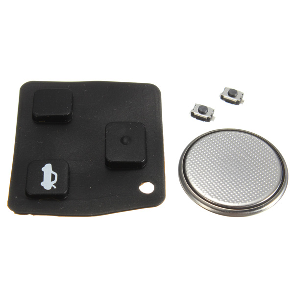 Remote Key Rubber Pad Battery 2 Switch Repair Kit For Toyota