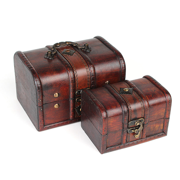 Vintage Wooden Jewelry Box Antique Storage Organizer Case Alex NLD