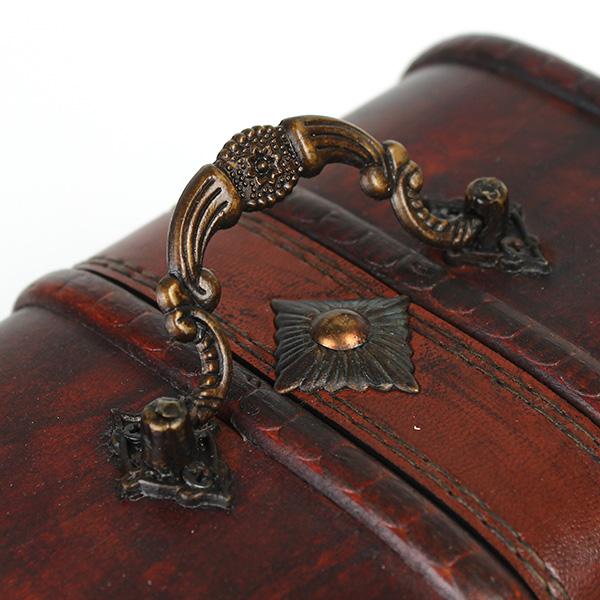 Vintage Wooden Jewelry Box Antique Storage Organizer Case Alex NLD
