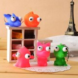 Lovely Squeeze Toy Pop Out Eyes Doll Stress Relief Key Chain