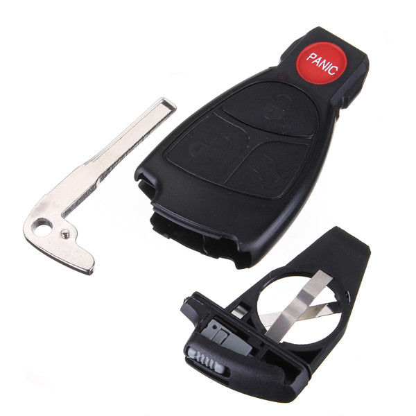Remote keyless smart key fob case shell with battery for How to unlock mercedes benz without key