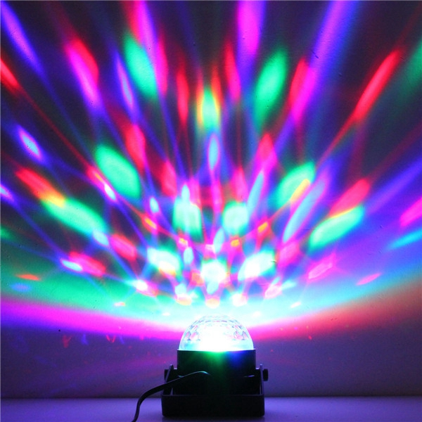 5w rgb crystal magic ball effect stage light voice control party