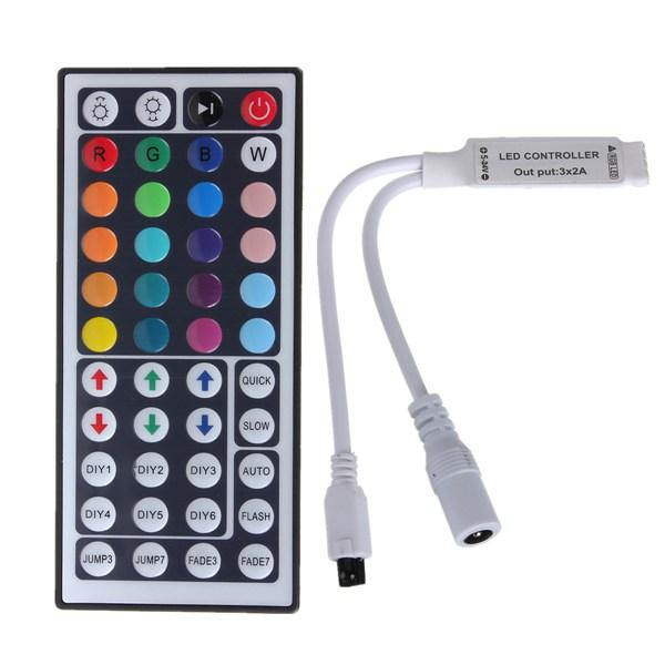 Für 3528 5050 RGB LED Streifen Licht Mini 44 Key IR Remote Wireless AB