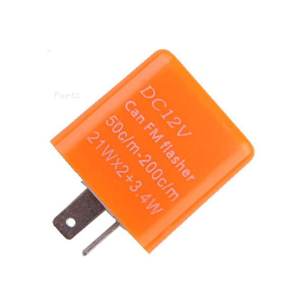 Motorcycle 2 Pin Adjustable Frequency LED Flasher Relay Indicator 12V