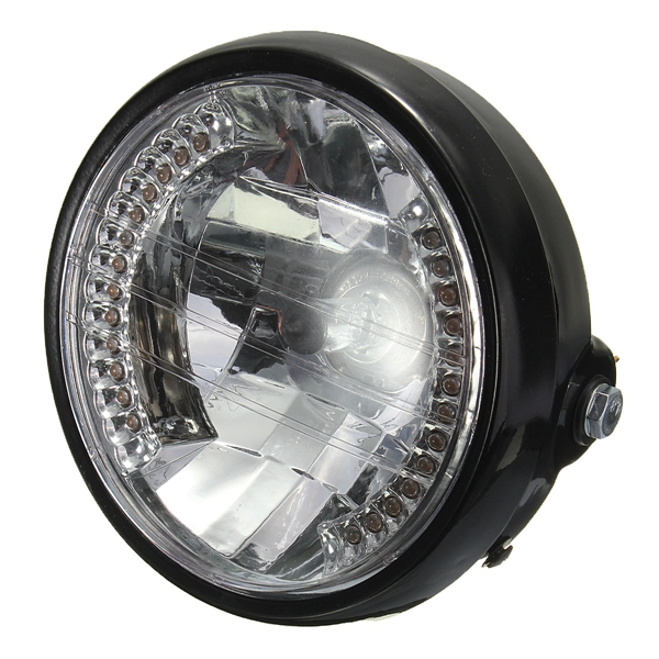 7inch h4 35w motorcycle halogen headlight with led turn