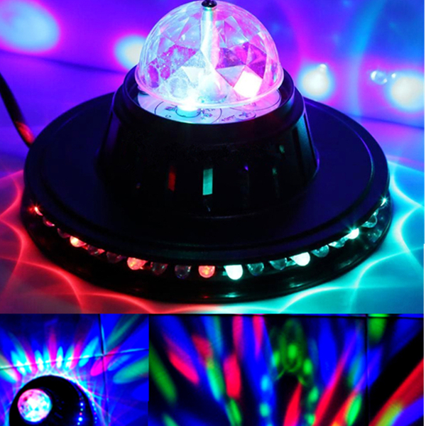 8w Rotating Led Club Disco Party Crystal Magic Ball Stage