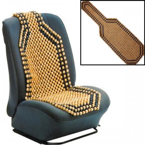 beaded wooden front massage seat chair cover cushion car