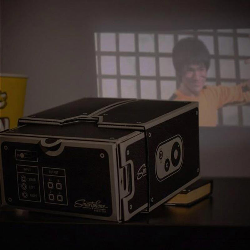 DIY Cardboard Smartphone Projector For iPhone Android Phones