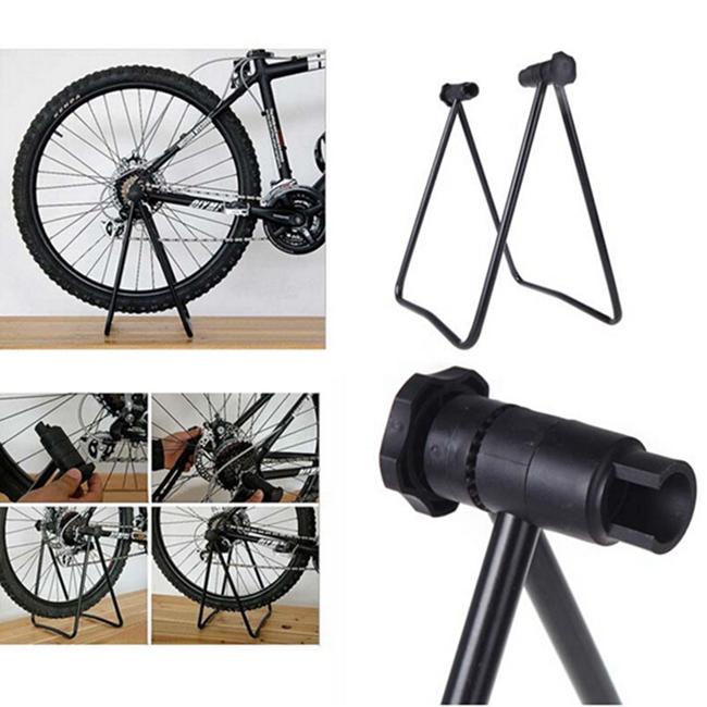 Bicycle Bike Triple Wheel Hub Folding Stand Kickstand Lift ...